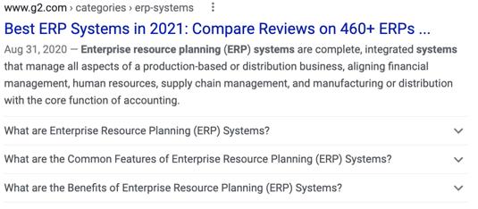 erp system FAQ schema example