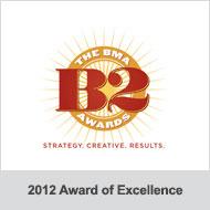 BMA B2 Awards 2012 Award of Excellence