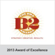 BMA B2 Awards 2013 Award of Excellence