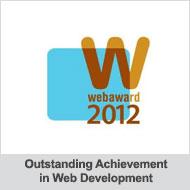 WebAward 2012 Outstanding Achievement in Web Development
