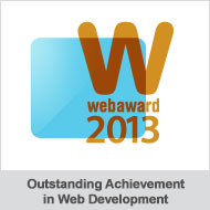 WebAward 2013 Outstanding Achievement in Web Development